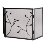 image for Eden Isle Triple Panel Iron Fire Screen