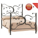 image for Eden Isle Forged Iron Bed Cal-King Size Complete & FREE SHEETS