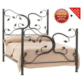 image for Eden Isle Forged Iron Bed Full Size Complete & FREE SHEETS