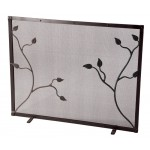 image for Eden Isle Single Panel Iron Fire Screen with Feet