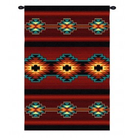 image for Esme Southwest Geometric Red Wall Tapestry 53 x 73