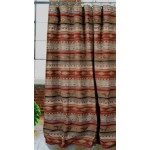 image for Flying Horse Chenille Fabric Western Shower Curtain