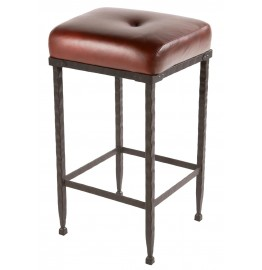 image for Forest Hill Iron Padded Seat Bar Stool 25 inch