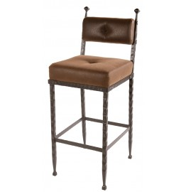image for Forest Hill Iron Padded Back Counter Bar Stool 25 inch