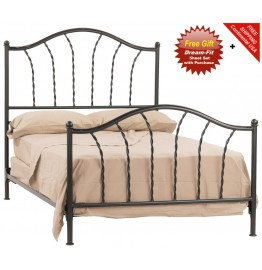 image for French Country Prescott Iron Bed Twin Complete & FREE SHEETS