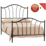 image for French Country Prescott Iron Bed Cal-King Size Complete & FREE SHEETS