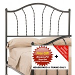 image for French Country Prescott Iron HB & Frame Only King & FREE SHEETS