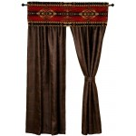 image for Gallop Southwest Valance & Faux Leather Drapery Set 84 Long