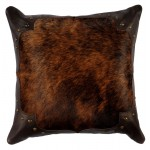 image for Hair on CowHide Brindle Throw Pillow 16 x 16
