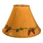 image for Grapevine Border Hand Painted Leather Lampshades