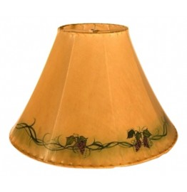 image for Grape Leaves Hand Painted Leather Lampshades