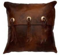 image for Concho Accent Harness Leather Throw Pillow 16 x 16