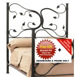 image for Eden Isle Forged Iron HB & Frame Only Full & FREE SHEETS