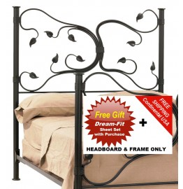 image for Eden Isle Forged Iron HB & Frame Only Cal-King & FREE SHEETS
