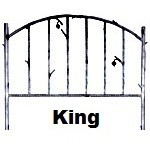 image for Forged Iron HB & Frame Only King Size
