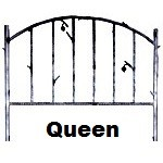image for Forged Iron HB & Frame Only Queen Size