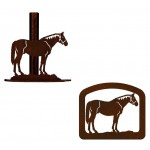 image for Horse Standing Western Paper Towel Stand & Napkin Holder
