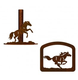 image for Wild Horse Western Paper Towel Stand & Napkin Holder