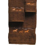 image for Horses Running 3-pc Bath Towel Set Brown