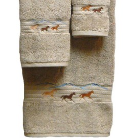 image for Horses Running 3-pc Bath Towel Set Linen