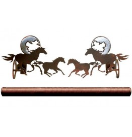 image for Running Horses & Moon Pole Rod Holder (Optional rod)