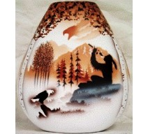 image for Calling the Spirits Hozoni Obee Pottery Vase 9 x 8