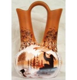 image for Calling the Spirits Navajo Wedding Vase 7.5 x 12