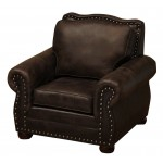 image for Jerome Davis Collection Leather Upholstered Lounge Chair