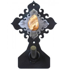 image for Jasper Stone on Burnished Steel Robe Hook