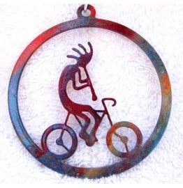 image for Bicycle Riding Kokopelli Southwest Christmas Ornament