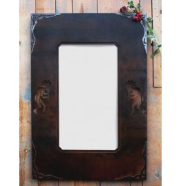 image for Kokopelli Burnished Corners Southwest Mirror 30 x 20