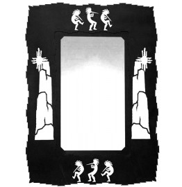 Kokopelli Southwestern Steel Wall Mirror 36 x 25