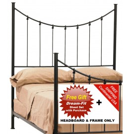 image for Knot Forged Iron HB & Frame Only Cal-King & FREE SHEETS