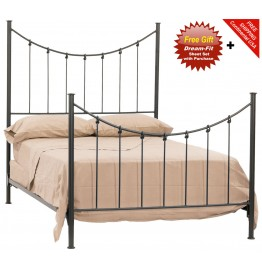 image for Knot Forged Iron Bed Queen Size Complete & FREE SHEETS
