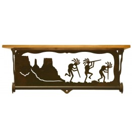 image for Kokopelli Trio Scenic Shelf & Towel Bar 20 inch