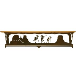 image for Kokopelli Trio Scenic Shelf & Towel Bar 34 inch