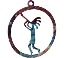 image for Kokopelli Flute Up Southwest Christmas Ornament