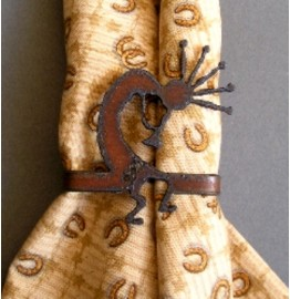 image for Kokopelli Flute Player Napkin Rings Set of 8