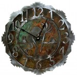 image for Kokopelli Desert Southwest Steel Wall Clock 12 inch