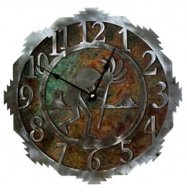 image for Kokopelli Desert Southwest Steel Wall Clock 18 inch