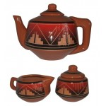 image for Lakota Fire Teapot with Creamer and Sugar Bowl Set