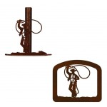 image for Lasso Cowboy Western Paper Towel Stand & Napkin Holder