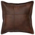 image for Harness Leather Throw Pillow 16 x 16