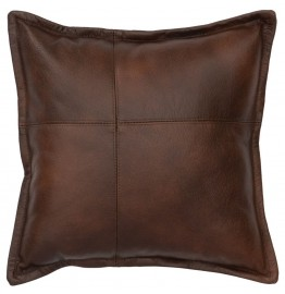 Harness Leather Throw Pillow 16 x 16