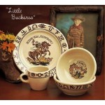image for Little Buckaroo Childs Western Dinnerware Boxed 3-Pc Set