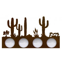 image for Desert Cactus Scene Vanity Light Bar 4 bulb