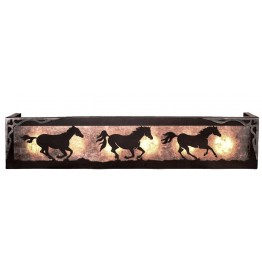 image for Running Horses Vanity Light Box 2 sizes