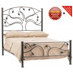 image for Live Oak Forged Iron Bed Cal-King Size Complete & FREE SHEETS