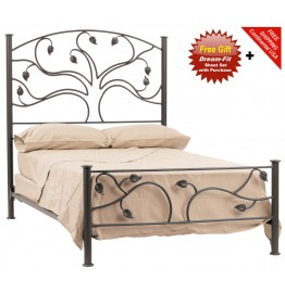 image for Live Oak Forged Iron Bed Queen Size Complete & FREE SHEETS