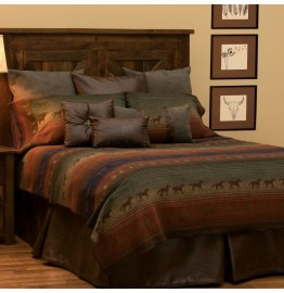 image for BASIC Mustang Canyon II Western Bed Ensemble Set